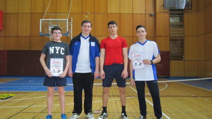 """Имаме победители по бадминтон от общинския етап на """"Ученически игри 2016/2017 г."""""""