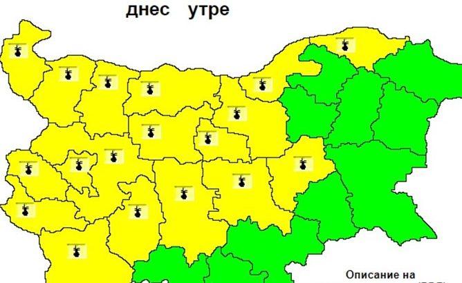 Внимавайте: Жълт код за опасно високи температури днес, 2 август