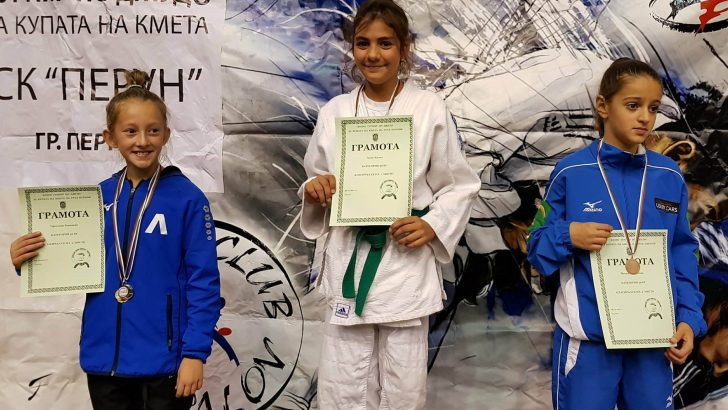 Купи и медали за севлиевските джудисти от международния турнир в Перник