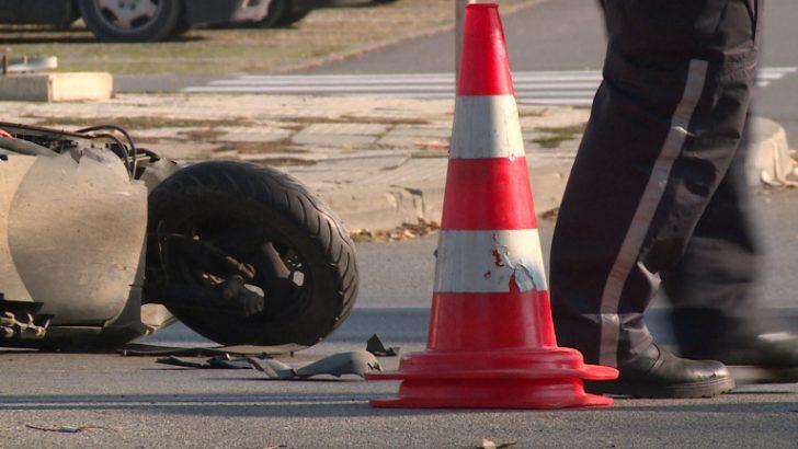 25-годишен мотоциклетист е с комоцио след отнето предимство