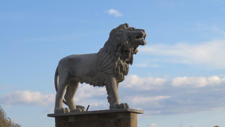Четирите лъвски фигури над река Росица отново са сред символите на Севлиево