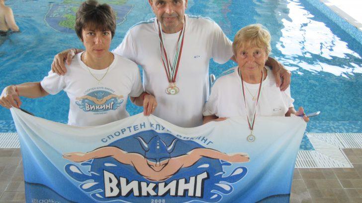 Пет медала за плувците-ветерани на международен турнир