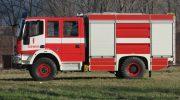 Трима пожарникари гасиха пожар във влекач с полуремарке