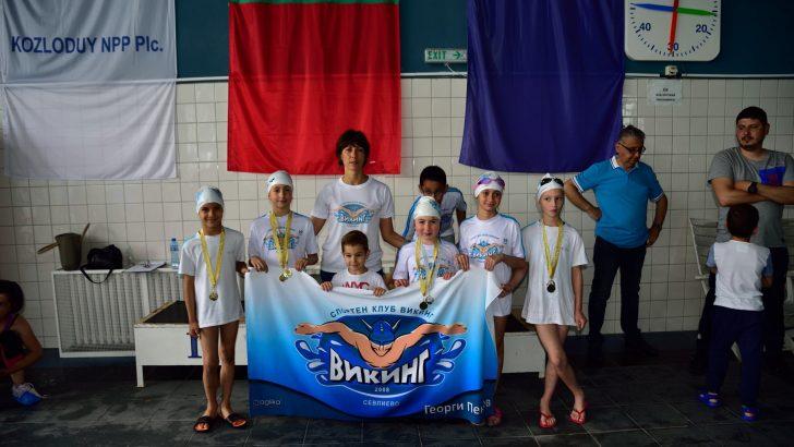"""Плувците от """"Викинг"""" обраха медалите на турнира в Козлодуй"""