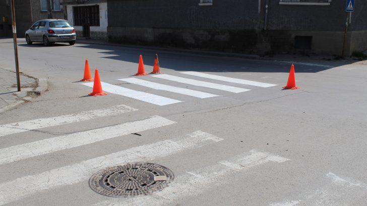В Севлиево обновяват пътната маркировка