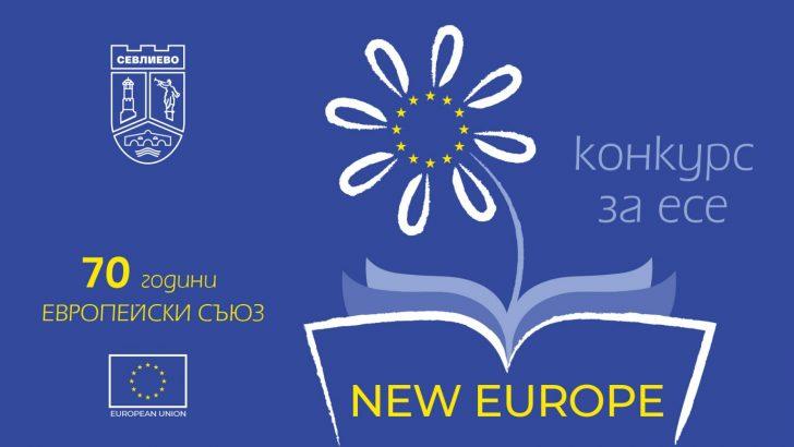 """Гласувайте за своето любимо есе на тема """"New Europe"""""""